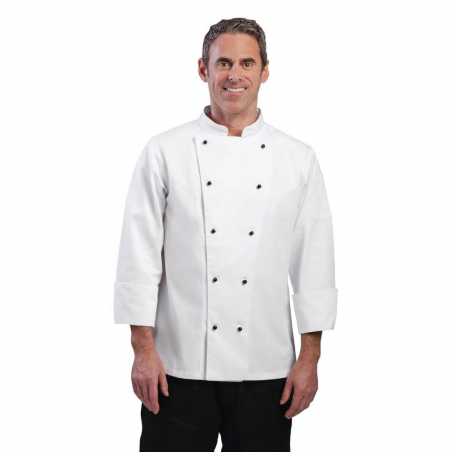 Veste chef unisexe Whites Chicago manches longues S
