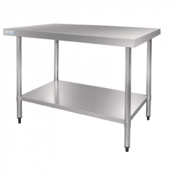 Table en acier inox Vogue 1200mm