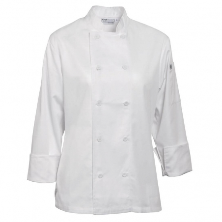 Chef Works Marbella dames koksbuis wit XL