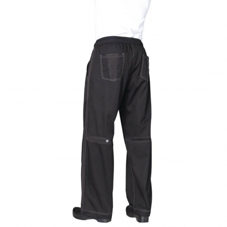 Chef Works Cool Vent pantalon zwart XS