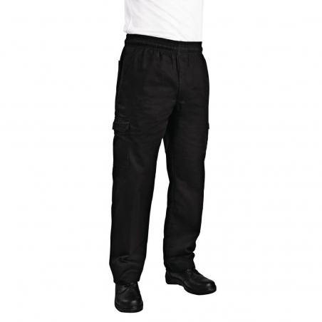 Chef Works unisex slim fit cargo broek zwart M