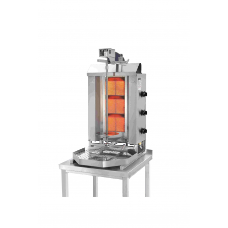 Gyros grill gas motor boven