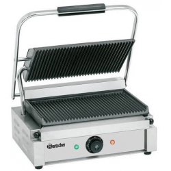 Panini contactgrill 1R-G Glad of gegroefd