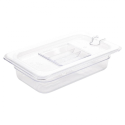 Bac Gastronorme en polycarbonate transparent un quart 65mm Vogue