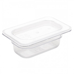 Bac Gastronorme en polycarbonate transparent un neuvième 65mm Vogue