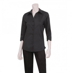 Chemisier stretch noir Uniform Works XL