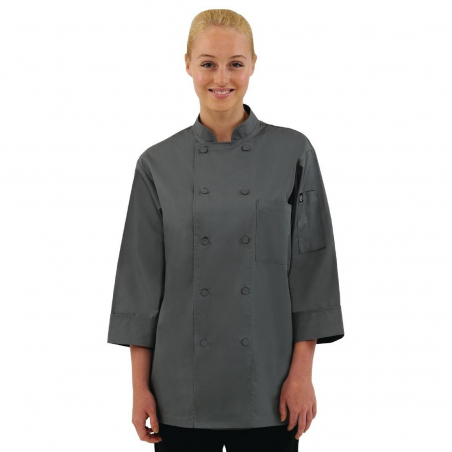 Veste chef unisexe Colour by Chef Works grise S