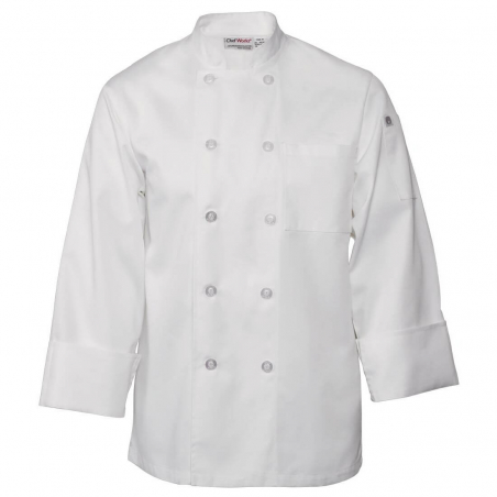 Veste chef blanche Le Mans Chef Works M