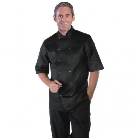 Veste chef unisexe Whites Vegas manches courtes noire S