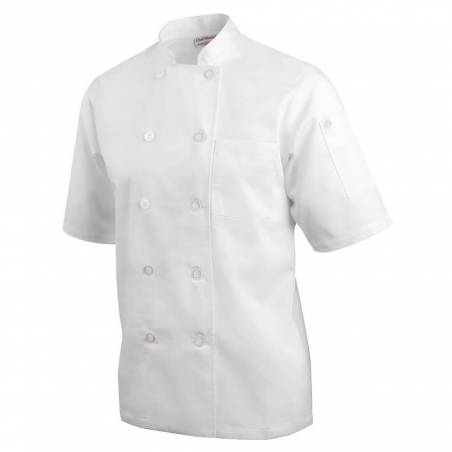 Veste chef Cool Vent unisexe Chef Works Montreal blanche XS